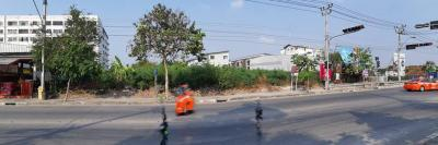 For SaleLandLadkrabang, Suwannaphum Airport : (High com value) Land for sale 641 sq.wa. on Chaloem Phra Kiat Road, Rama 9 Soi 28