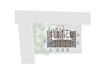 ขายดาวน์คอนโดสยาม จุฬา สามย่าน : Chapter Chula-Samyan ขายดาวน์รอบ VIP – Type B5 1 Bed | ราคาถูกกว่าโครงการ | อาคาร A | 34.74 ตรม.