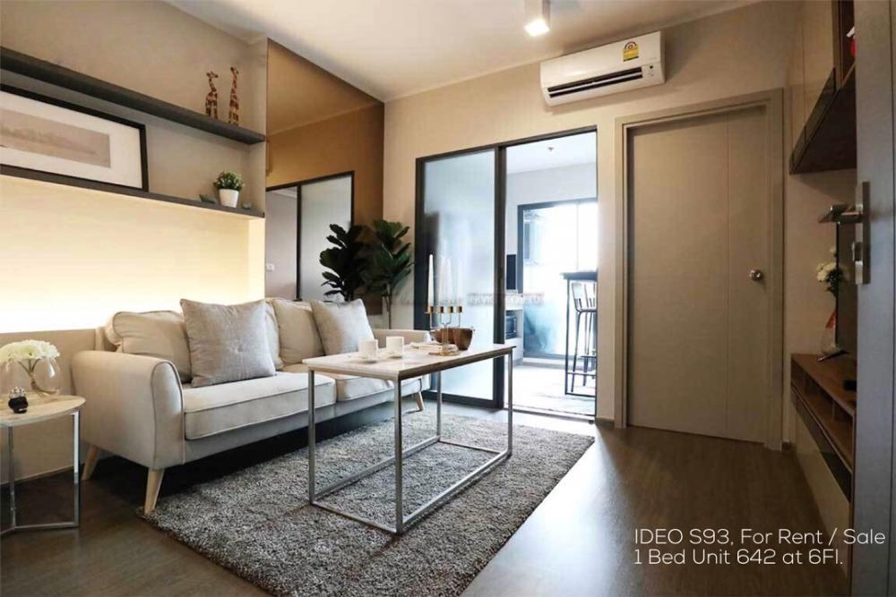 เช่าคอนโดอ่อนนุช อุดมสุข : [Owner Post] ให้เช่า หรือขาย ไอดีโอ สุขุมวิท 93 (IDEO S93) ห้อง 93/781 Unit no. 642 ห้อง 1 Bed ครัวปิด Private Floor ยูนิตน้อยกว่าชั้นอื่น