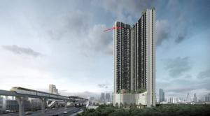 Sale DownCondoBangna, Lasalle, Bearing : 💖 1-BedPlus the best position! 7.6m wide, corner room south [Nue Noble Srinakarin] cheaper than the project.