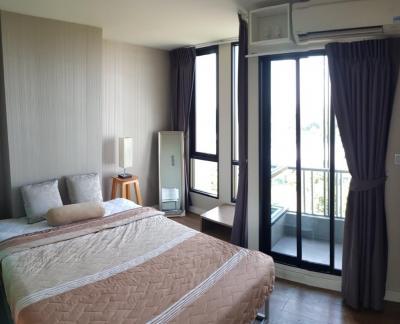 For RentCondoNawamin, Ramindra : For rent Atrium Bliss Condo (Ram Inthra - Min Buri), Building B, corner room, 8th floor, beautiful view, near the pink line