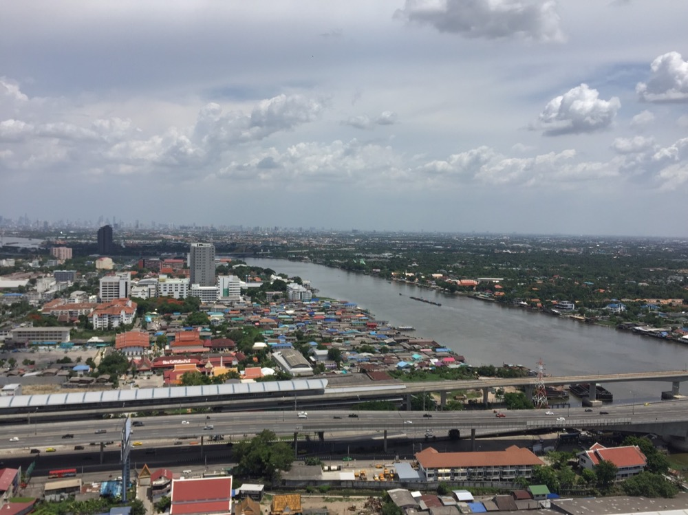 For RentCondoRattanathibet, Sanambinna : Politan rive for rent, 39th floor, 31 sq.m., fully furnished, river view, ready to move in