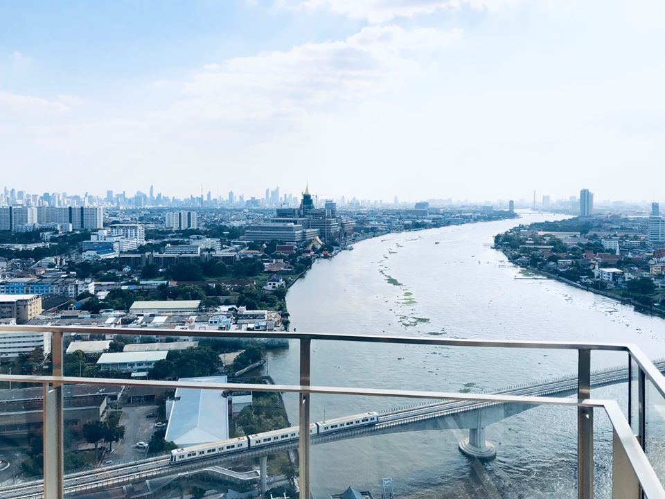 For SaleCondoBang Sue, Wong Sawang : Selling a very beautiful view room 333 Riverside (River view, South river, all rooms)