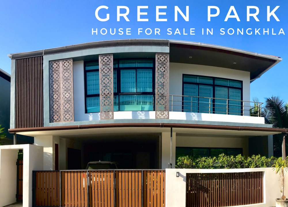 For SaleHouseSongkhla : 2-storey detached house for sale in Green Park Village, Songkhla Province