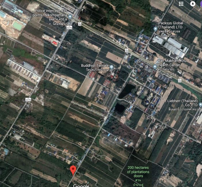 For SaleLandRayong : 0046 Land near industrial estates and communities, there are groundwater wells, Soi 12 double tamarind, 1.7 million per rai and 1.5 million rai