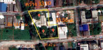 ขายบ้านโชคชัย4 ลาดพร้าว71 : ขายที่ดิน ลาดพร้าว 71 นาคนิวาส 395 ตร.ว ติดถนน 2 ด้าน เข้าออกโชคชัย 4 ได้