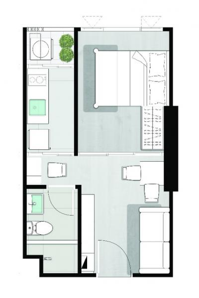 For SaleCondoKasetsart, Ratchayothin : Selling down payment knightsbridge kaset society size 25.8 sqm. Price VIP