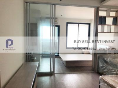 ขายคอนโดพระราม 3 สาธุประดิษฐ์ : ขายห้องเปล่า U Delight Residence Riverfront Rama 3 ไม่เคยเข้าอยู่ 34 ตรม. ชั้นสูง วิวแม่น้ำ 3.6 ล้าน