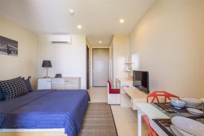 For RentCondoRattanathibet, Sanambinna : C176 Nice suit condo for rent at Sanambinnam, near Ministry of Commerce and Lottery *** The condo has a swimming pool and fitness. *** There is a shuttle to the Ministry of Commerce in front of Central Rattanathibet and the lottery.