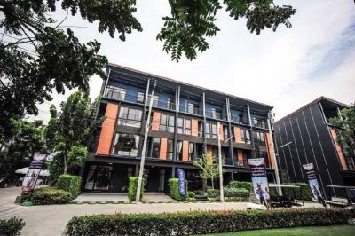 For RentTownhouseChengwatana, Muangthong : Home office for rent / Townhome (Soi Chaengwattana-Pakkred) 35) 3 and a half floors (200 sq m) Loft Style at Haus35.