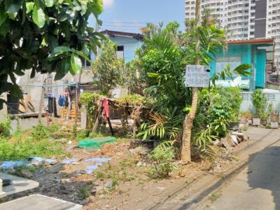 For SaleLandRama 8, Samsen, Ratchawat : Land for sale 66 square wah, Soi Pracha Buratham 12, Nakhon Chai Si Road, Bang Krabue, Dusit, Bangkok