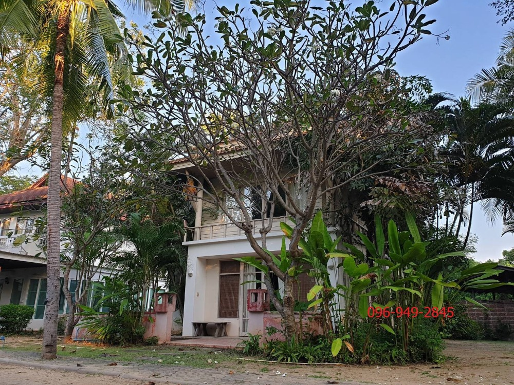 For SaleHouseCha-am Phetchaburi : House for sale on the beach Baan Suan Rim Had project, 2 floors, 103 sq.w., fully furnished, ready to move in