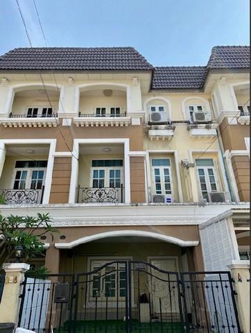 For RentTownhouseLadprao101, The Mall Bang Kapi : RT324 3-storey townhome for rent, Saranpruek Village, Ladprao 130, near The Mall Bangkapi