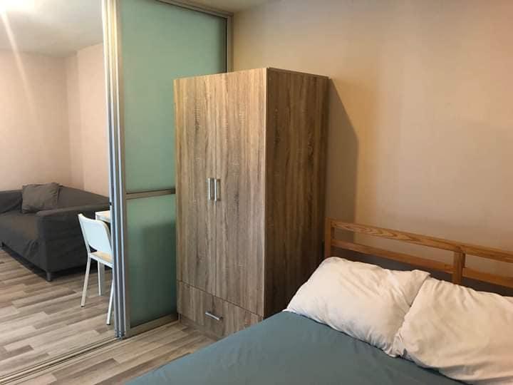 For RentCondoRamkhamhaeng, Hua Mak : ** Condo for rent ** The Cube Ramkhamhaeng Furniture + Electronics 7,500 baht / month