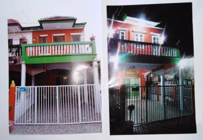 For SaleTownhouseRangsit, Patumtani : 2-storey townhouse for sale Maleewan Golf Driving Range Rangsit-Nakorn Yai Kor 27 Corner room 23 sq.w.