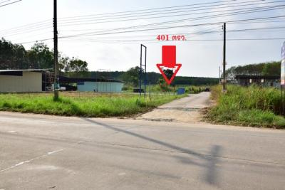 For SaleLandRayong : Land for sale, 401 sqw, Mae Nam Khu Soi 5, next to 3191 Road, Pluak Daeng, Rayong (Free transfer fee)