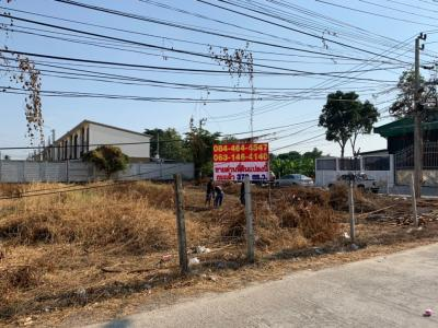 For SaleLandBangkruai, Ratchapruek : Land reclamation and beautiful plot of 379 square meters on the corner of the road on both sides of Soi 8 ten thousand unity, good location.