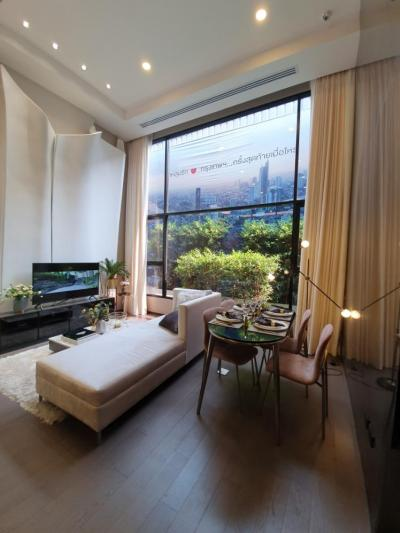 Sale DownCondoSiam Paragon ,Chulalongkorn,Samyan : Sell Down Payment, Park Origin Chula-Samyan, SKY ZONE - Top Floor (Floor 44_, Room no. SKY 321) / River View (Facing Chaophraya River) / 2 bedrooms, 2 bathrooms