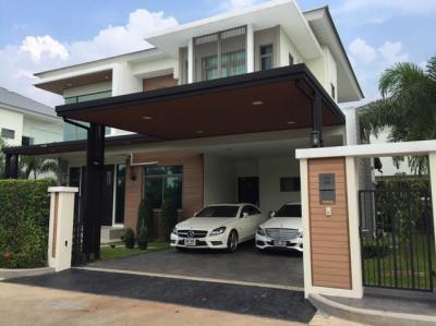 For RentHouseBangbuathong, Sainoi : House for rent, Perfect Masterpiece Project Rattanathibet near MRT Sai Ma Beautiful house, fully furnished