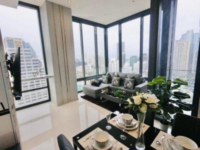 เช่าคอนโดสีลม ศาลาแดง บางรัก : ให้เช่า Ashton Silom Luxury Condominium ชั้น26 2ห้องนอน 2ห้องน้ำ 73ตรม. 62,000