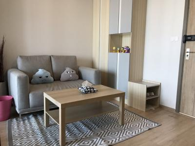 For RentCondoBangna, Lasalle, Bearing : Line ID : @condobkk (with @ too) IDEO O2 32 sq m, 22nd floor, for rent at 12,000 baht