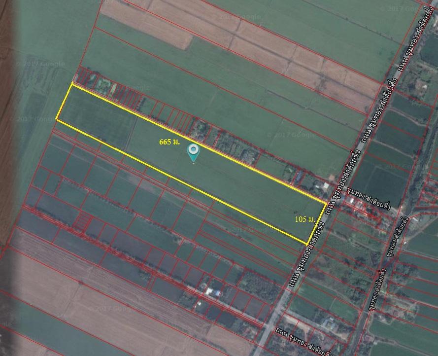 For SaleLandLadkrabang, Suwannaphum Airport : Land for sale in Lat Krabang, 39 rai Khum Thong - Lam Toiting Road, Lat Krabang District