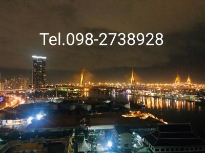 For SaleCondoRama3 (Riverside),Satupadit : Selling U Delight Rama 3, Bhumibol Bridge view, Living Plus room type