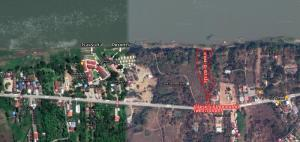For SaleLandLoei : Land along the Mekong River, Chiang Khan District, near tourist attractions Suitable for a resort.