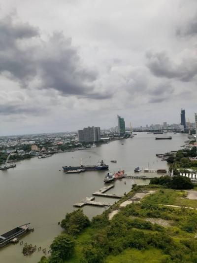 For RentCondoRama3 (Riverside),Satupadit : Condo for rent, U Delight Residence Riverfront Rama 3, room view of Rama 9 Bridge.