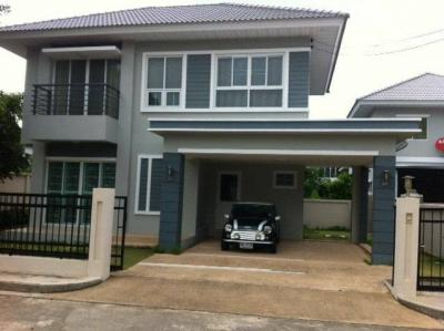 For RentHouseRattanathibet, Sanambinna : 2 storey detached house for rent, Perfect Place, Rattanathibet, near MRT Sai Ma, a corner house, a new home
