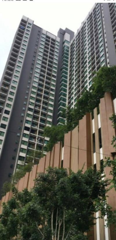 For RentCondoSamrong, Samut Prakan : Condo for rent, Kensington Sukhumvit-Thepharak, 1 bedroom, 9th floor, price 4,500 baht / month, near Samrong BTS station.