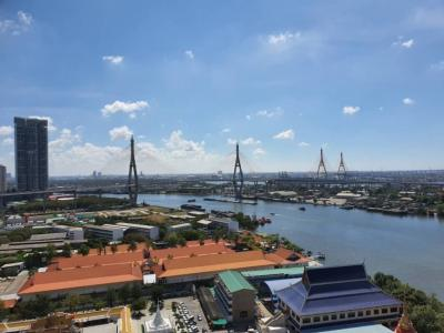 For RentCondoRama3 (Riverside),Satupadit : Condo for rent, U Delight Residence, Riverfront, Rama 3, near Chao Phraya River, River view, ready to move in