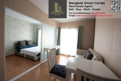 For SaleCondoBang Sue, Wong Sawang : Condo Parkland Ratchada - Wongsawang 1 bedroom, 17th floor, beautiful room, fully furnished, pool view, sell at only 2.2 million loss