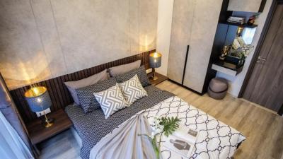 For RentCondoRama9, RCA, Petchaburi : Ideo Mobi Asoke condo for rent, near MRT Phetchaburi / BTS Asoke / Airportlink Makkasan. 1 bedroom, 1 bathroom, 1 kitchen, area 35 sq.m., 21st floor. Beautiful rooms, fully furnished. are