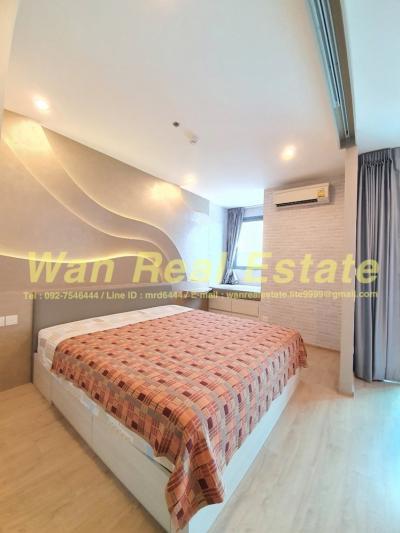 For RentCondoSiam Paragon ,Chulalongkorn,Samyan : For rent ideo q Chula Sam Yan, size 33 sq.m., 9th floor, beautiful decoration, ready to live