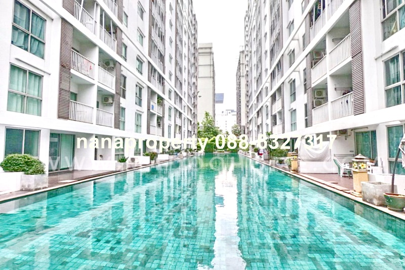 For SaleCondoRama9, RCA, Petchaburi : Condo for sale A Space Asoke-Ratchada near Central Rama 9