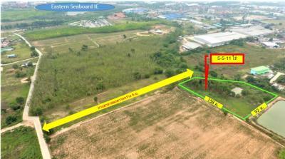 For SaleLandPattaya, Bangsaen, Chonburi : Area 128, 5 rai 5 ngan 11 sq.w., Bo Win, entrance to the Eastern Seaboard Industrial Estate 18.83 million