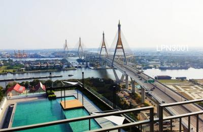 Sale DownCondoRama3 (Riverside),Satupadit : LPN Riverine Rama3, VVIP room, 30th floor, in front of the Chao Phraya River Just above the pool, 1 room on each floor