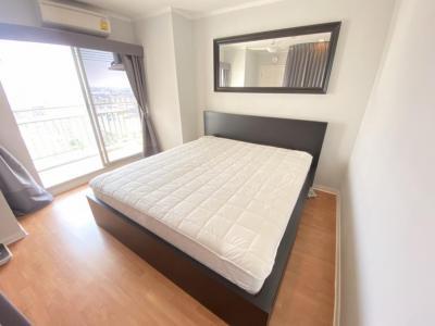 For RentCondoRamkhamhaeng, Hua Mak : For rent, Condo Lumpini Ville Ramkhamhaeng 44, Size 64 sqm., Building B, Floor 14, 2 bedroom, fully furnished, electricity, complete 16,000 baht.