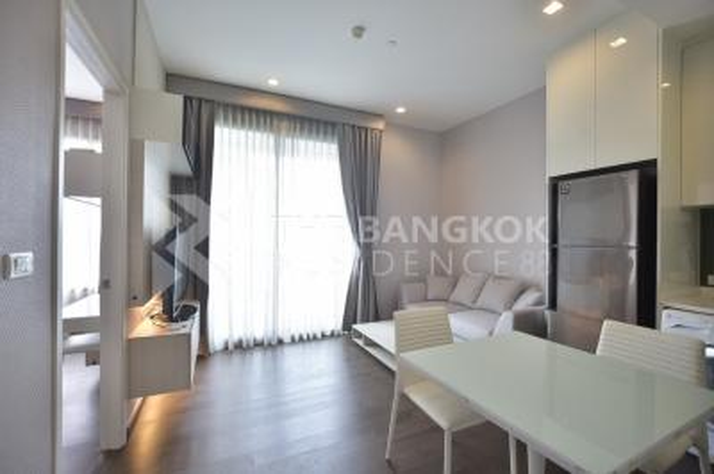 For RentCondoRama9, RCA, Petchaburi : New beautiful room for rent, fully furnished, Q Asoke 1 bedroom 1 bathroom