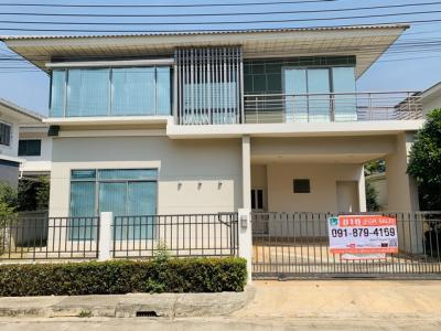 For SaleHouseLadkrabang, Suwannaphum Airport : House for sale 58 Wah 4 h. 4 h. Perfect Place Sukhumvit 77, never been in