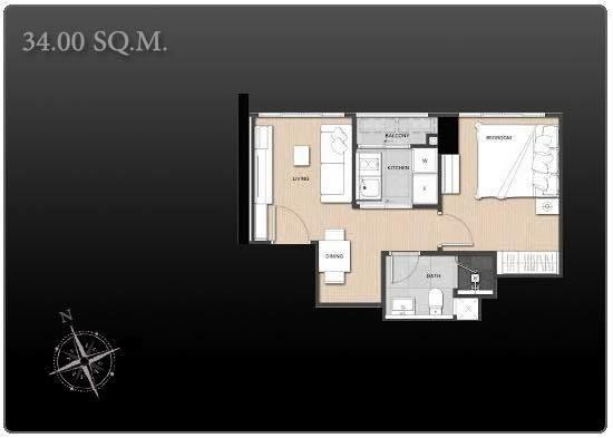 For SaleCondoSapankwai,Jatujak : Sell 1 bed 34.5 sqm 36.98 sqm and 37.66 sqm Fully furnished Rent 23,000