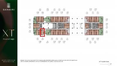 Sale DownCondoRatchathewi,Phayathai : XT Phayathai 1-bed corner glass 43 sq.m., only 5.15 million or 11x, xxx baht / sq.m. only East