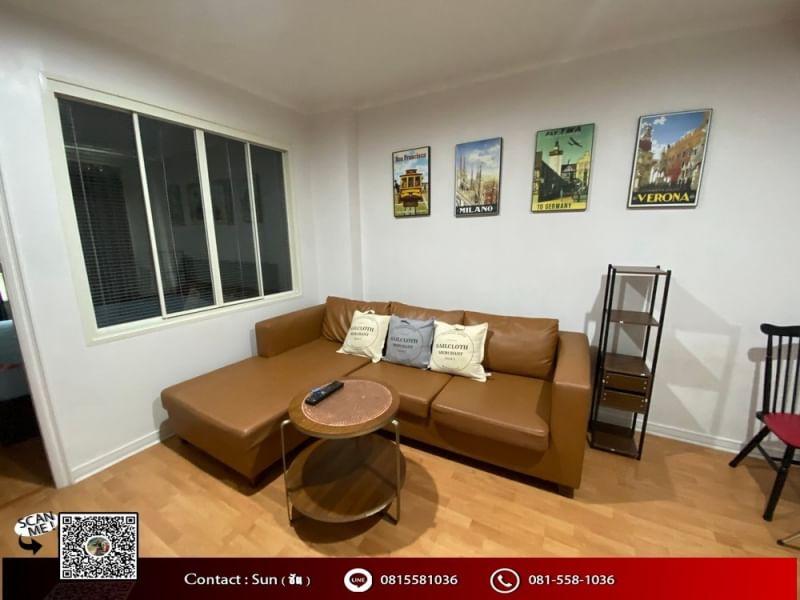 เช่าคอนโดรัชดา ห้วยขวาง : ให้เช่า คอนโด ลุมพินี วิลล์ ศูนย์วัฒนธรรม ใกล้ MRT ห้วยขวาง ( For Rent Condo Lumpini Ville Cultural Center ) near MRT Huai kwang - 1 ห้องนอน 1 ห้องน้ำ 1 ห้องครัว - ขนาด 35 ตร.ม ชั้น 7  ค่าเช่า 9,000 บาท
