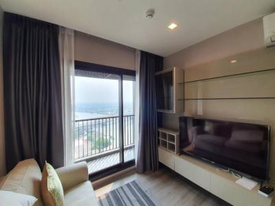 For RentCondoRattanathibet, Sanambinna : For rent, politan rive 2 bedroom, 52.5 sq.m., floor 26, fully furnished