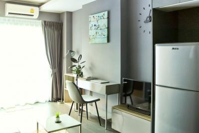 For RentCondoOnnut, Udomsuk : M1973-Condo for rent Ideo Sukhumvit93 35sqm. 6th floor BuildingC 1bedroom 1bathroom with washing machine@17,000