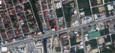 For SaleLandChonburi, Pattaya, Bangsa : Land for sale in good location On Phraya Satcha Road, Samed Subdistrict, Mueang District, Chonburi Province