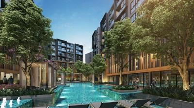 Sale DownCondoOnnut, Udomsuk : Sell sell excel sukhumvit 50 Excel Sukhumvit 50 super hot room 25 sqm. Pool view, cheaper than the pre-sale cycle, only 1.5x