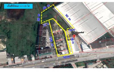For SaleLandBangna, Lasalle, Bearing : Land for sale on Thepharak Road, KM.2, Outbound, Bang Phriang, Bang Bo, Samut Prakan, 4 Rai