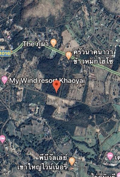 For SaleLandKorat KhaoYai Pak Chong : Land for sale in Khao Yai Road through the battle - Kud Khla 32 rai, next to the Nakhawa Nga rice.